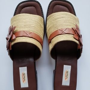 Talbots Sandals - Natural/Cognac